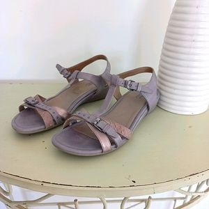 Ecco Sandals Size EUR 37 Leather Grey